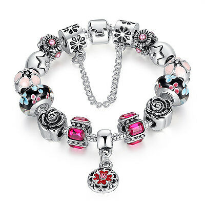 European Authentic 925 Silver Charms Bracelet Fit Women Christmas Luxury Jewelry