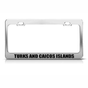 Turks And Caicos Islands Chrome License Plate Frame Tag