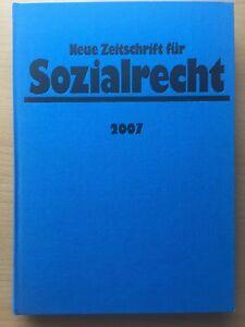 NZS Neue Zeitschrift für Sozialrecht 2007 Original GEBUNDEN