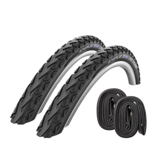 2x Schwalbe Land Cruiser Bike Tyre 24 26 28 Inch with or without Hose