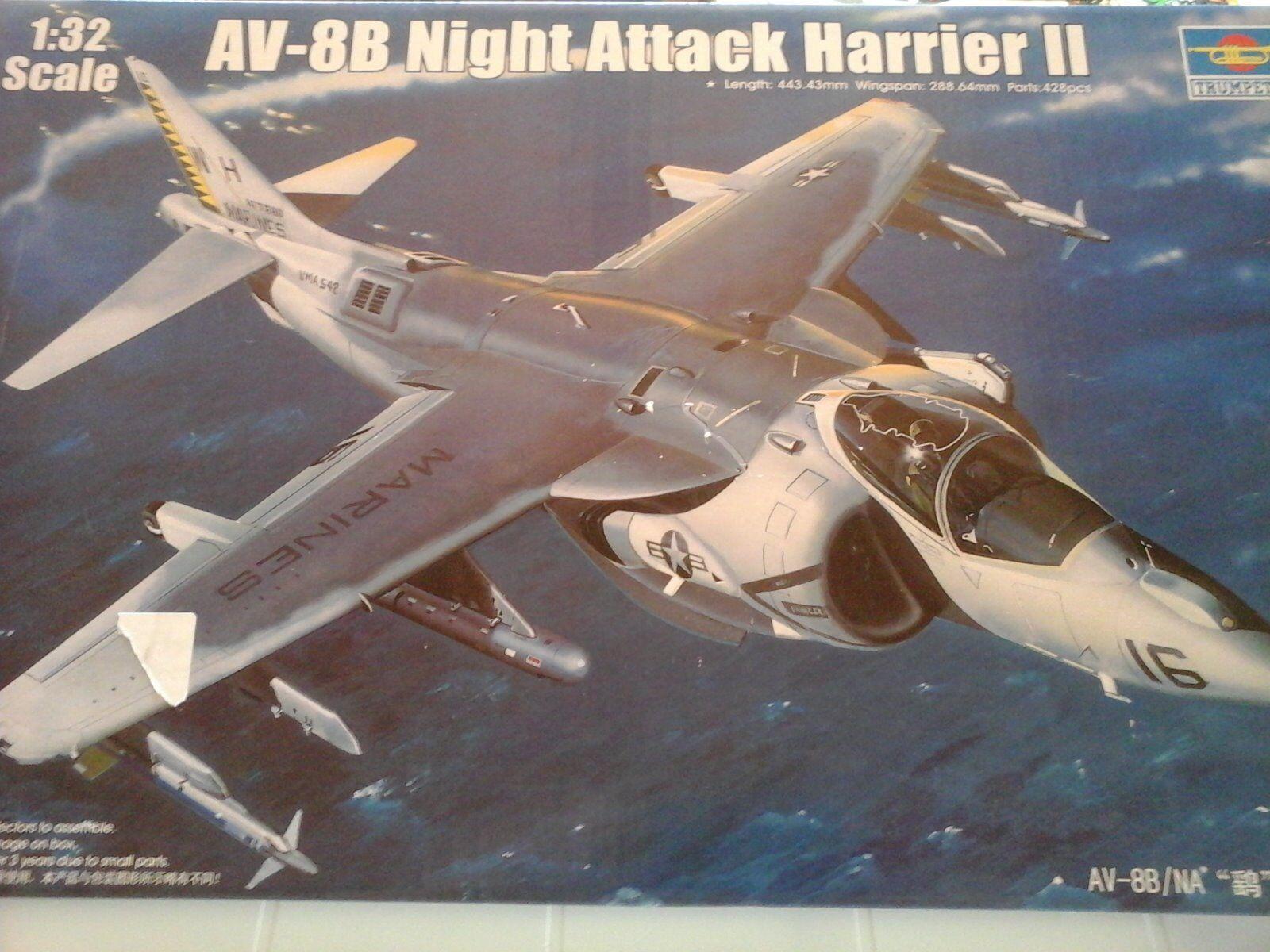 HARRIER II AV8-B NIGHT ATTACK 1/32 SCALE TRUMPETER MODELPHOTOETCHEDRUB.WHEELS