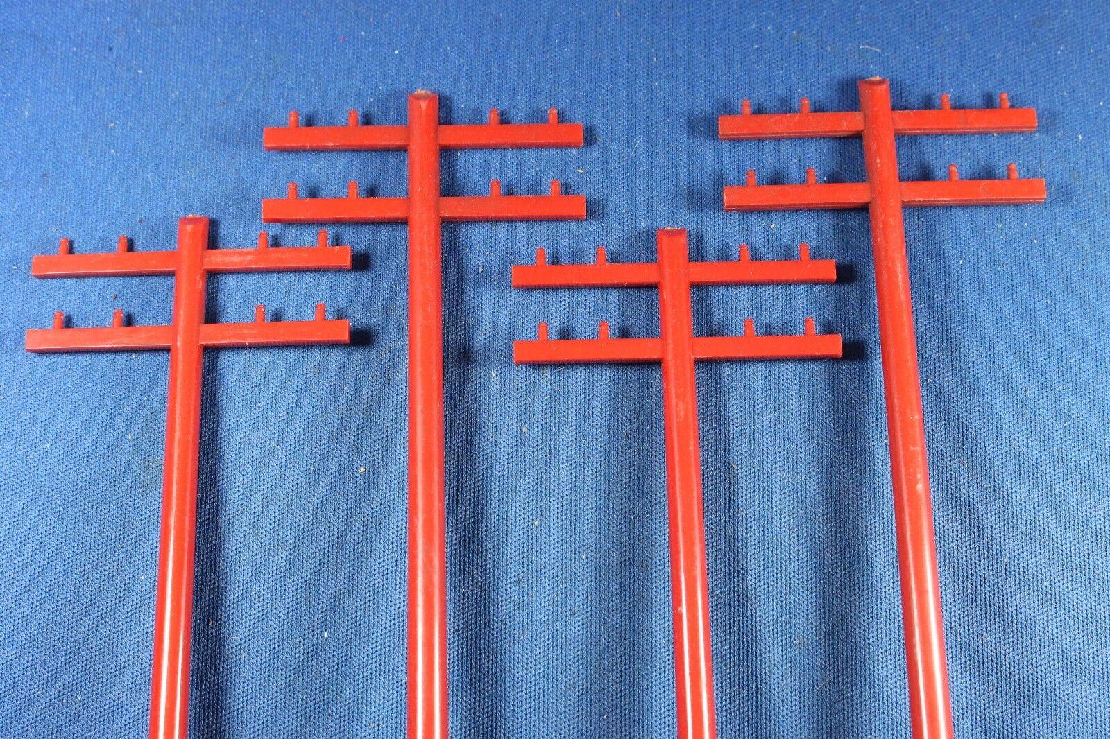 Plasticville-O-O27 - TP-5 Rojo postes postes postes de teléfono (12) - Distribuidor Caja-Excelente b6e7be