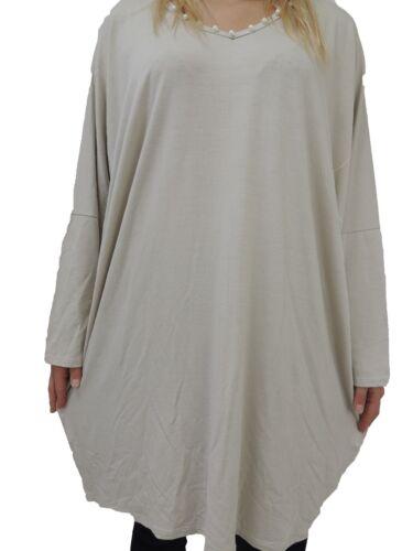 Long Shirts Kunstperlen Größe 50 52 54 56 Übergröße Langarmshirt Langarm t