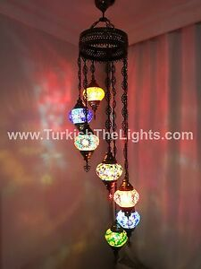 7 ball globe turkish mosaic chandelier turkish lamp turkish the image is loading 7 ball globe turkish mosaic chandelier turkish lamp aloadofball Image collections