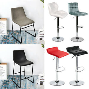 Magnificent Details About Set Of 2 Bar Stools Adjustable Leather Velvet Counter Dining Chair Desk Seat Pub Cjindustries Chair Design For Home Cjindustriesco