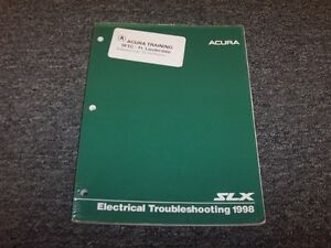 Details about 1998 Acura SLX SUV Electrical Troubleshooting Wiring on