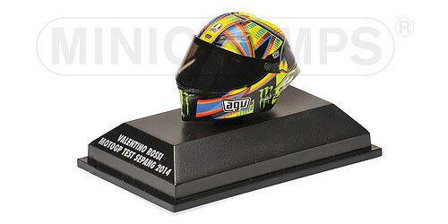 1 8 AGV Minichamps Valentino Rossi Helmet Casco MotoGP Sepang Test 2014 NEW