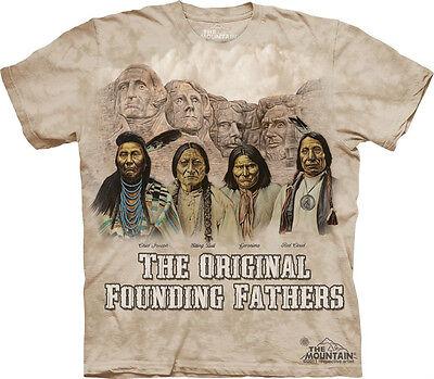 THE MOUNTAIN ORIGINALS FOUNDING FATHERS MT RUSHMORE NATIVE AMERICAN PRIDE S-3XL