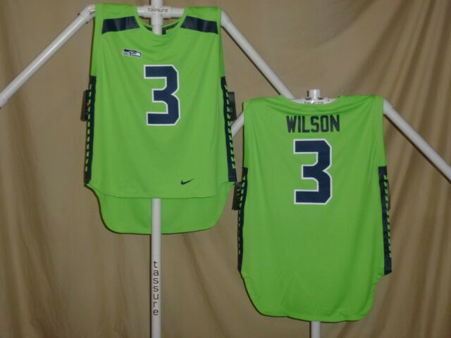 b33f33235 RUSSELL WILSON Seattle Seahawks NIKE Color Rush Sleeveless JERSEY Womens  Large