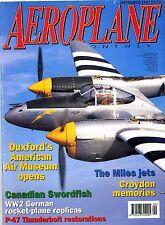 Aeroplane Monthly 1997 September Swift,Croydon,Miles,Swordfish,Jet Provost