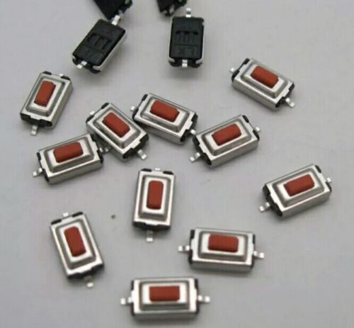 SMD Tact Switches x10 RED MICROSWITCH Momentary Tactile Push Button Switch PCB