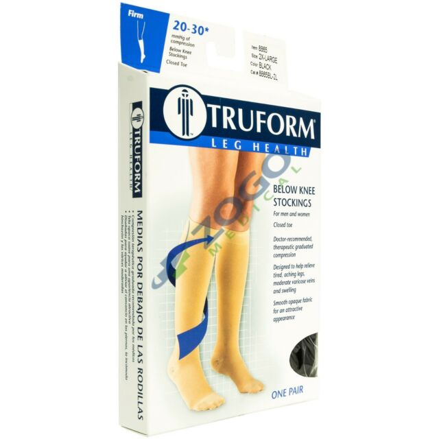 eec516e0ee7 Truform 8865 Compression Stockings Below Knee Closed Toe 20-30 mmHg ...