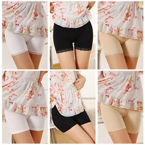 Women-Ladies-Lace-Cotton-Elastic-Safety-Pants-Shorts-Short-Tight-Leggings-NEW