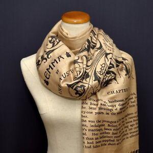 Emma by Jane Austen Scarf Wrap Shawl.Book scarf, Literary scarf .