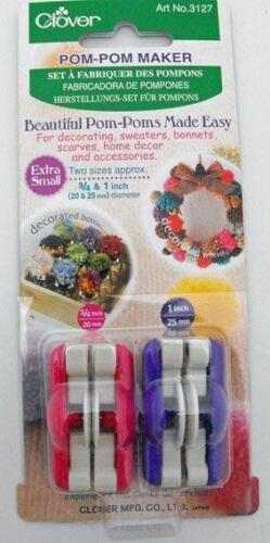 Extra Small Clover Pom Pom Maker 20 /& 25mm diameter