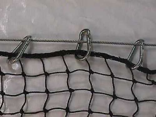 "1//4/"" Carabiner Zinc Snap Clips for Baseball Batting Cages ~ 50 Pack"