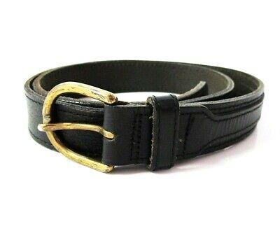Simbolo Del Marchio Fibbia Vintage Cintura In Pelle Da Uomo Australiano Nero Taglia 36-mostra Il Titolo Originale A Tutti I Costi