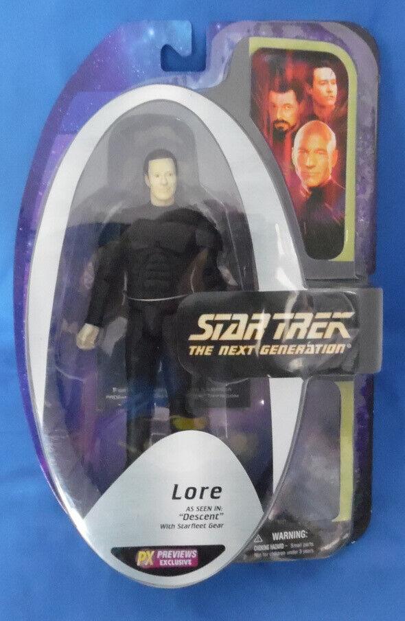 Star Trek Next Generation 7 inch Lore Figure MOC TNG Descent PX Exclusive