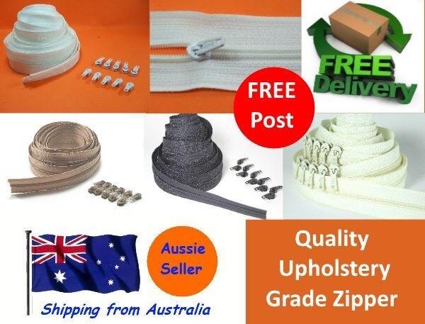 Continuous Zipper / Zip & Slides - Zipper Upholstery Black,White,Beige, No 3 4 5