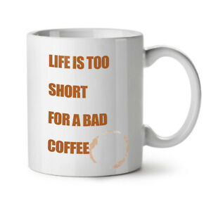 Life Short Coffee NEW White Tea Coffee Mug 11 oz | Wellcoda
