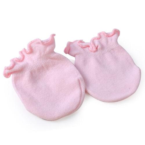 5pcs Newborn Boy Girl Infant Soft Cotton Handguard Anti Scratch Mittens Gloves