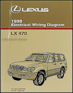 1998 Lexus LX 470 Wiring Diagram Manual Original LX470 Electrical  Schematics OEM | eBayeBay