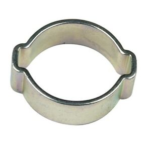 Acero-suave-zincado-Clip-de-aire-combustible-agua-34-37-mm-1-3-8-034-Doble-Oreja-Abrazadera-De-La