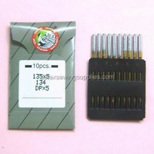 All Sizes 134R 135X5 DPX5 Pack of 10 Organ Industrial Sewing Machine Needles