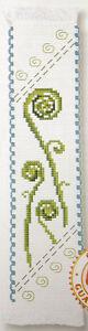 New-Zealand-Koru-Fern-Semco-counted-cross-stitch-bookmark-kit
