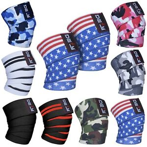 DEFY-Weight-Lifting-Knee-Wraps-Training-Fist-Straps-Power-Lifter-Gym-Support-78-034
