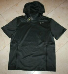 Men/'s Nike HBR PULL OVER THERMA HOODIE Anthracite /& BLACK Size Large NWT