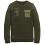 miniature 1 - PME Legend Sweat Manche Longue Encolure en R Doub PTS195554 Olive M L XL
