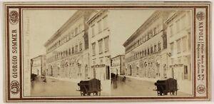 Florence Palais Ricardo Italia Foto Sommer Stereo PL53L3n61 Vintage Albumina