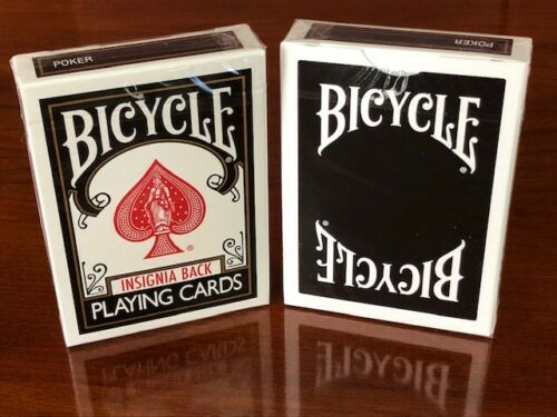 playing cards FREE USA SHIPPING white 1 DECK Bicycle Insignia