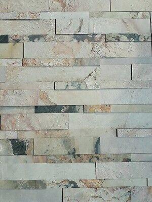 Baustoffe & Holz Herzhaft Natursteinverblender Selbstklebend 3d 15x60cm Macedonian Schiefer Wandverblender Senility VerzöGern Heimwerker