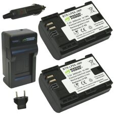Wasabi Power Battery 2-Pack and Charger for Canon LP-E6 LP-E6N and Canon EOS