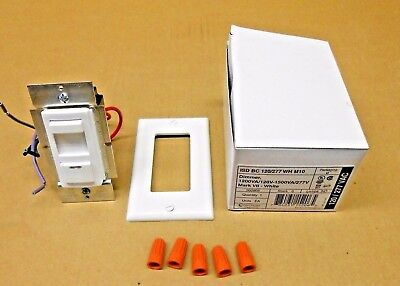 5 AVAILABLE NIB SYNERGY FLUORESCENT DIMMER SWITCH ISD BC 120//277 WH M10 1500VA