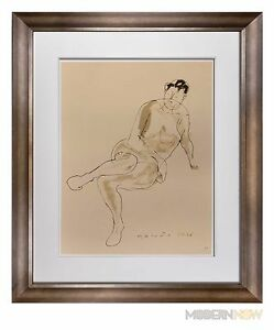 Marino-MARINI-Lithograph-SIGNED-Ltd-EDITION-Riposo-1948-Custom-FRAME-20x24in