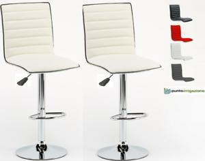 Dettagli su Sgabello Bar girevole sedia moderno girevole regolabile  sgabelli cucina kit 2 pz