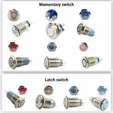 12v 1619mm Waterproof Metal Push Button Switch Led Light Momentary Latching