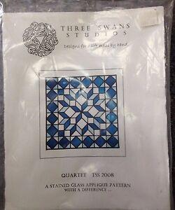 Quartet-TSS-Stain-Glass-Applique-Pattern-by-Three-Swans-Studios