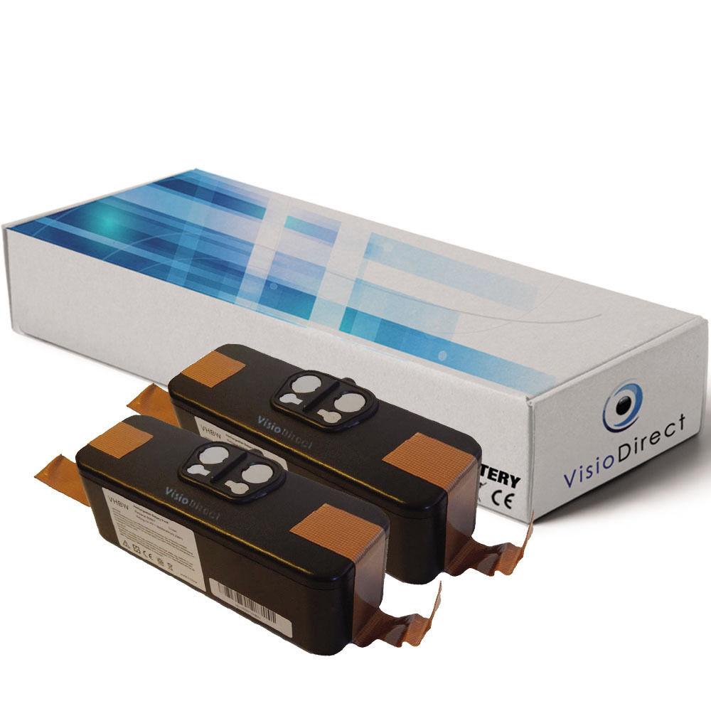 Lot de 2 batteries 14.4V 4400mAh pour IROBOT Roomba 774 - Société Française -