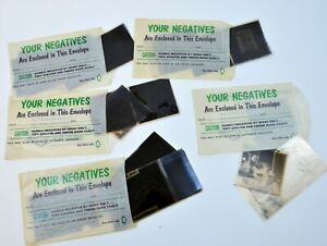 Lot-of-Vintage-Photos-Negatives-5-Envelopes-1950s-Black-White-Miscellaneous-z0