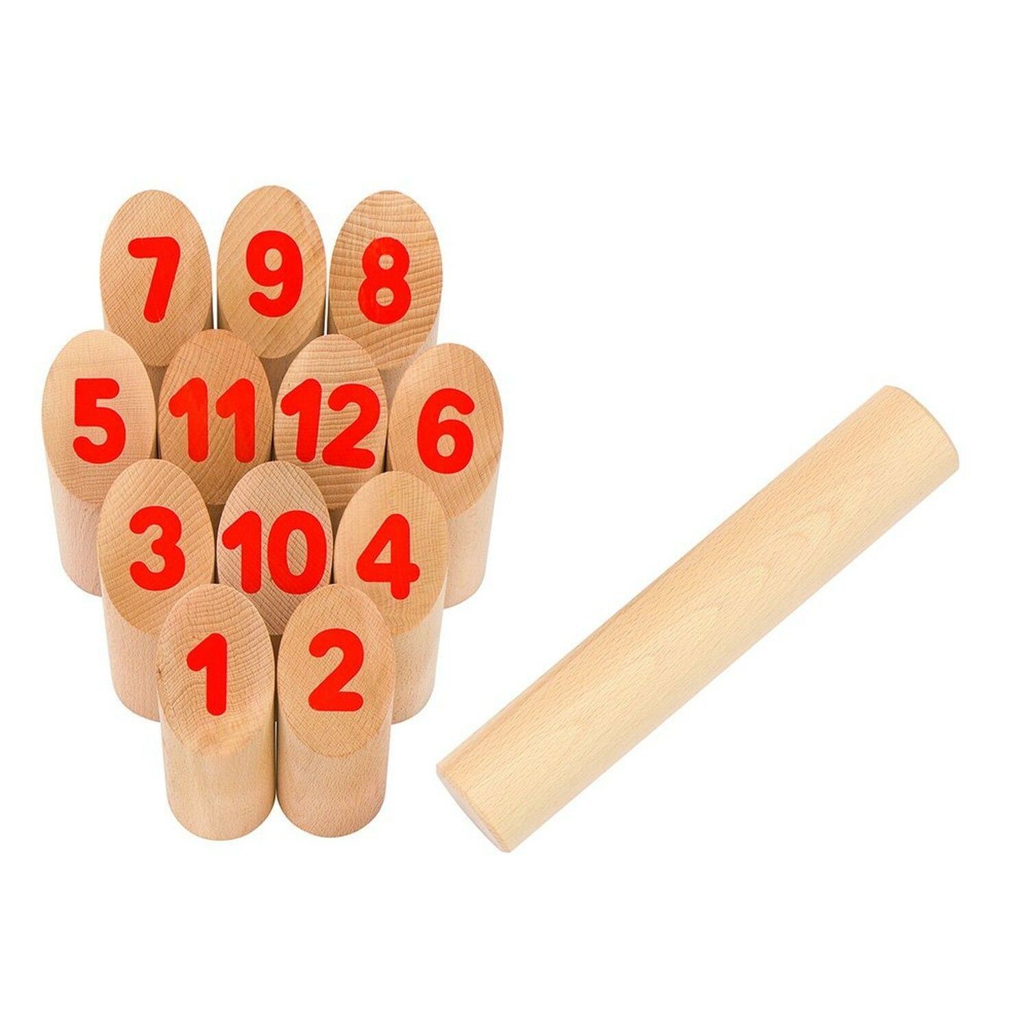 GoKi Viking Game Number Kubb in a Cotton Bag