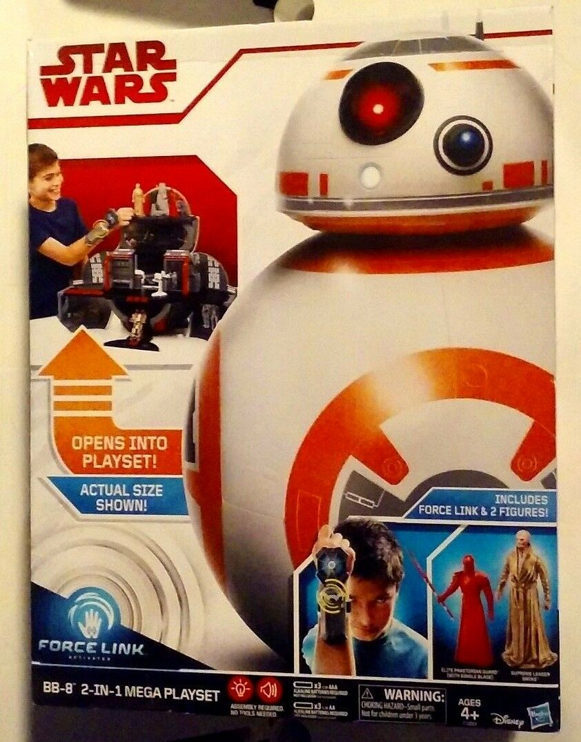 Star Wars 2-In-1 Force Link BB-8 2-In-1 Wars Mega Playset with Force Link & 2 Figures MISB 294a75