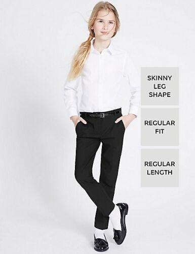 M/&S Ragazze Scuola Pantaloni Gamba Skinny T761276 NUOVO!!!