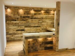 Rustic Wood Wall cladding - Reclaimed Pallet Wood Cladding ...