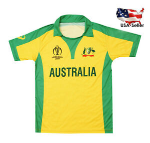 separation shoes 47322 ac88f Details about Australia Cricket World Cup 2019 Shirt Replica Jersey - US  Seller