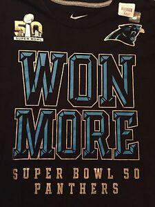 06321662 Carolina Panthers Super Bowl 50 Shirt Nike Men's Bound Won More SB50 ...
