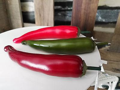 Künstlicher Spargel am Draht Gemüse Attrappen Dekoration Kunstgemüse Dekogemüse
